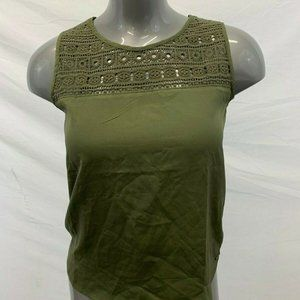 Lois Women's Size Small Khaki Green Sarah tank top